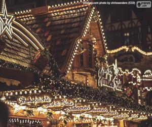puzzel Kerstmarktverlichting