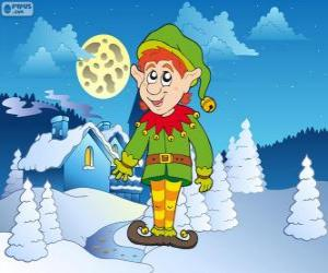 puzzel Kerstmis Elf