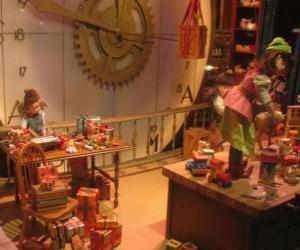 puzzel Kerstmis elfjes maken van speelgoed voor geschenken