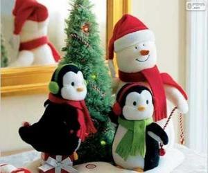 puzzel Kerstmis poppen