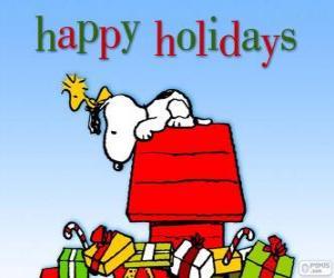 puzzel Kerstmis Snoopy