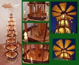 puzzel Kerstpiramide