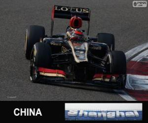 puzzel Kimi Räikkönen - Lotus - 2013 Chinese Grand Prix, 2e ingedeeld