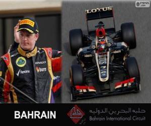 puzzel Kimi Räikkönen - Lotus - 2013 Grand Prix van Bahrein, 2º ingedeeld