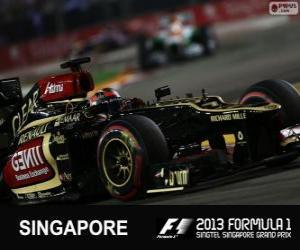 puzzel Kimi Räikkönen - Lotus - 2013 Singapore Grand Prix, 3e ingedeeld