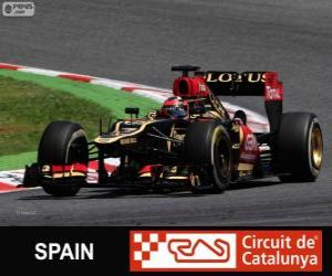 puzzel Kimi Räikkönen - Lotus - Grand Prix van Spanje 2013, 2º ingedeeld
