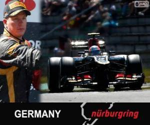puzzel Kimi Räikkönen - Lotus - Grand Prix Duitsland 2013, 2º ingedeeld