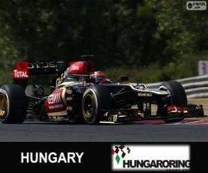 puzzel Kimi Räikkönen - Lotus - Grand Prix van Hongarije 2013, 2º ingedeeld