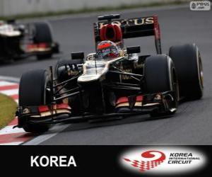 puzzel Kimi Räikkönen - Lotus - Grand Prix van Korea 2013, 2º ingedeeld