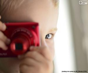 puzzel Kind met fotocamera