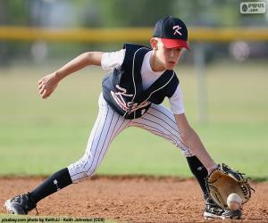 puzzel Kind spelen honkbal