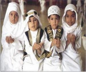 puzzel Kinderen maken Du'a, een smeekbede in de islam