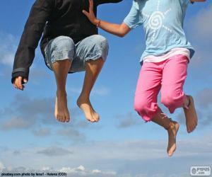 puzzel Kinderen springen