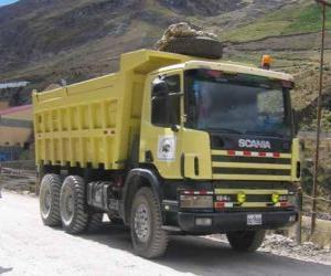 puzzel Kipper vrachtwagen