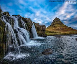 puzzel Kirkjufellsfoss, IJsland