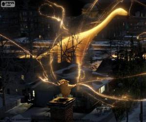 puzzel Klaas Vaak, de bewaker van de dromen, het dempen teken uit De Vijf Legendes film