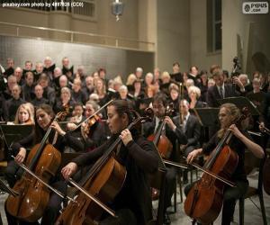 puzzel Klassiek muziek orkest