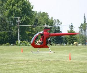 puzzel Kleine helikopter met piloot