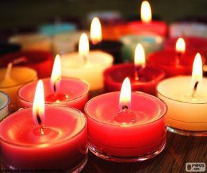 puzzel Kleine kaarsen, kerst