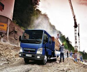 puzzel Kleine vrachtwagen op site
