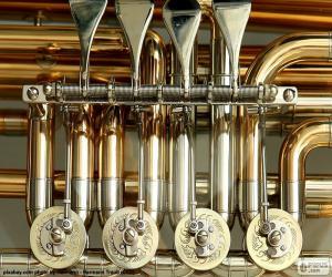 puzzel Kleppen van een tuba