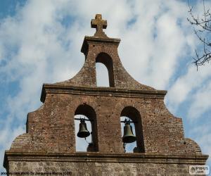 puzzel Klokkentoren van een kerk