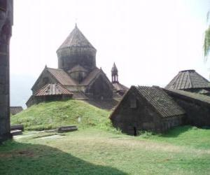 puzzel Kloosters en Sanahin Haghpat, Armenië.
