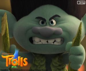 puzzel Knoest, een paranoïde trol