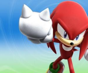 puzzel Knuckles de Echidna, rivaal en vriend van Sonic