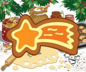 puzzel Koekje als een Kerstster