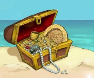 puzzel Koffer van de schat