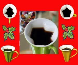 puzzel koffiemokken, Kerstmis vormen