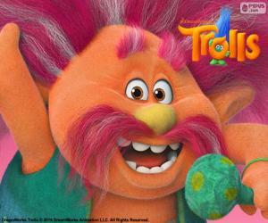 puzzel Koning Peppy, leider van de trollen