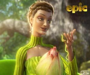 puzzel Koningin Tara, de koningin van het bos, de moeder natuur