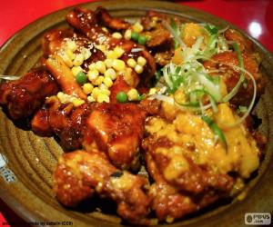 puzzel Koreaanse stijl kip