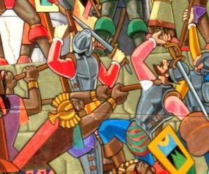 puzzel Krijgers vechten Inca