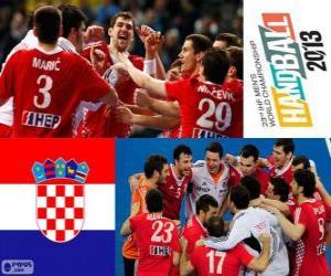 puzzel Kroatië, bronzen medaille op het Wereldkampioenschap voetbal in handbal 2013