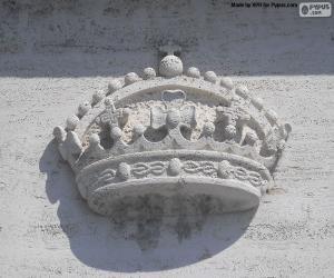 puzzel Kroon gebeeldhouwd