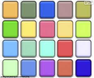 puzzel Kwadraten van kleuren