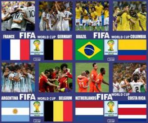 puzzel Kwartfinales, Brazilië 2014