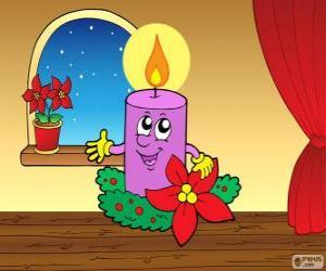 puzzel Lachende kerst kaars