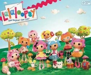 puzzel Lalaloopsy, de lappenpoppen