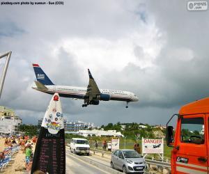 puzzel Landing in Sint Maarten