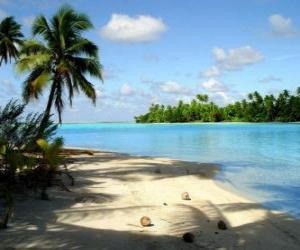 puzzel Landschap van een tropisch eiland