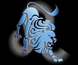 puzzel Leeuw. De Leeuw. Vijfde teken van de dierenriem. Latijnse naam is Leo