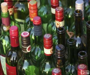 puzzel Lege wijnflessen
