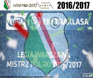 puzzel Legia, kampioen 2016-2017