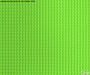 puzzel Lego groene grondplaat