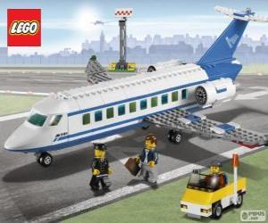 puzzel Lego passagier vliegtuig