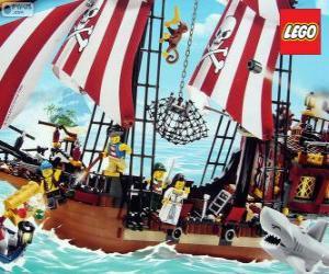puzzel Lego piratenschip
